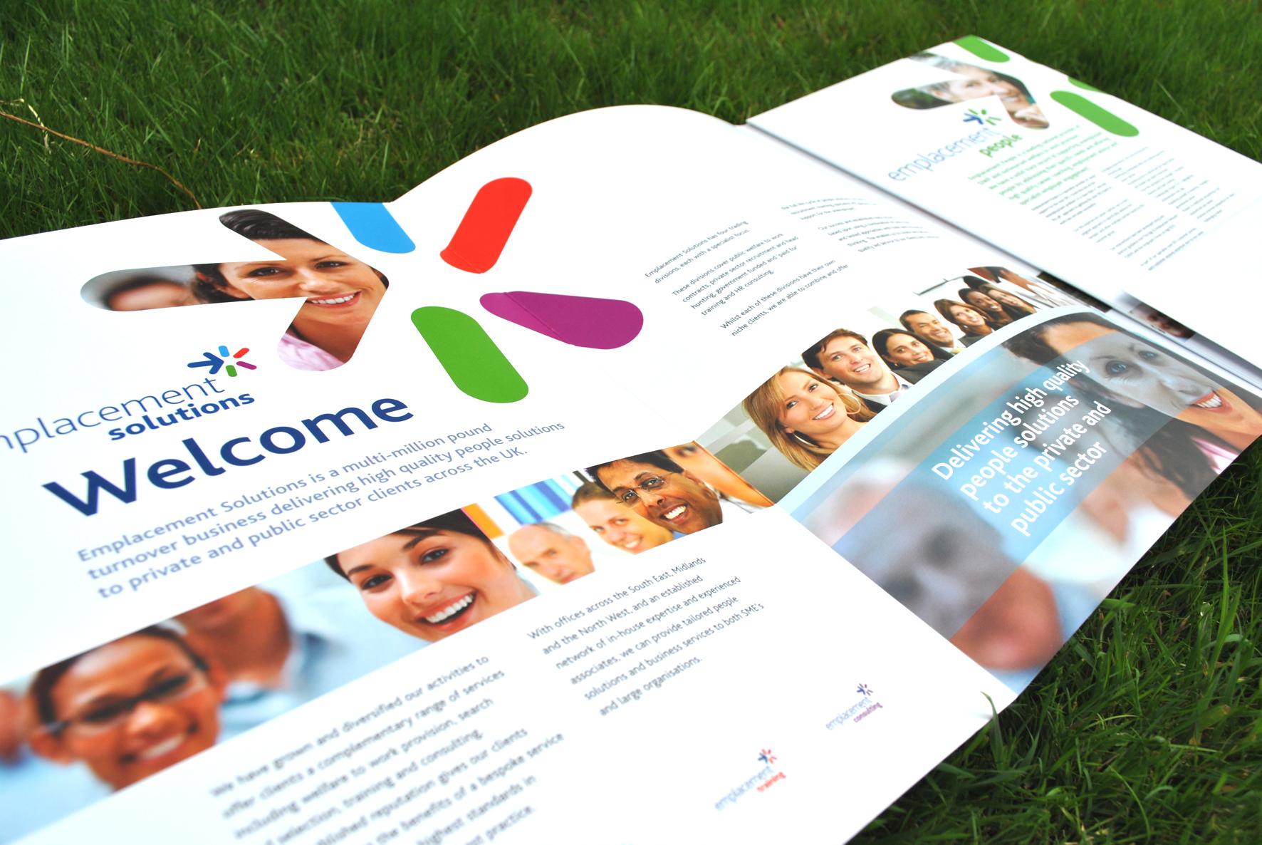 emplacement people corporate brochure and insert design tt