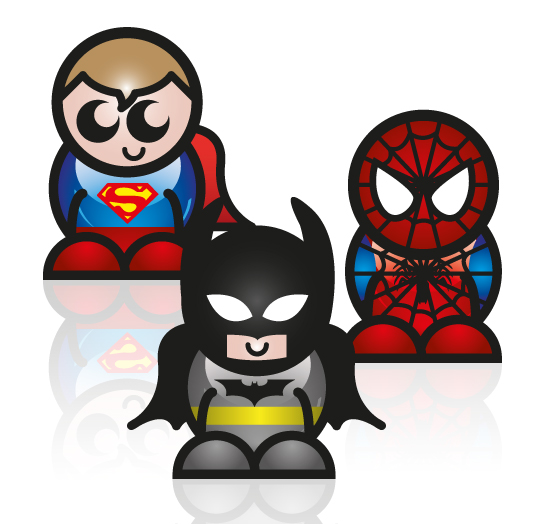 Superhero Characters Tt Graphic Design